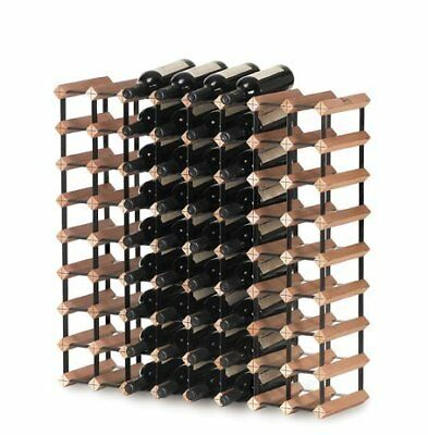 Bordex Wine Rack - 72 bottle. Timber and metal
