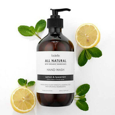 Ladelle All Natural Hand Wash Lemon and Spearmint 500 ml