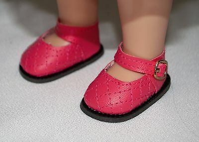 Slippers Fuzzy  Pink for 14 in Wellie Wishers Doll American Girl Accessories