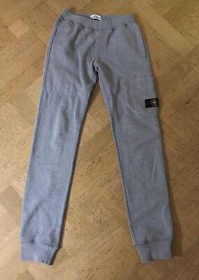 Stone Island Junior Grey Tracksuit Trousers Size 14