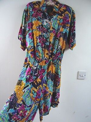 Unbranded vintage rayon Indian sparkly/beaded playsuit festival/summer/boho M