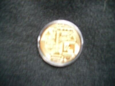 Bitcoin One Troy Ounce Copper Gold Color
