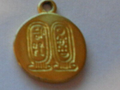 Vintage Gold Tone Pendant Charm from King Tut Exhibit Egyptian M.M.A 1970's