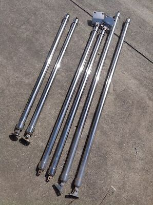3 x PAIRS of Stainless steel struts for boat awnings canopies etc selling as set