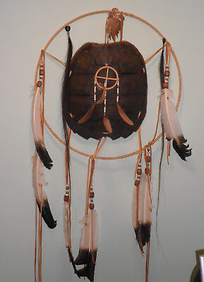 Native American Large Snapping Turtle Shell Dreamcatcher Dream Maker Shield claw