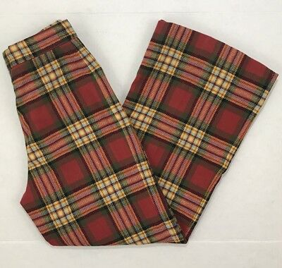 Vintage Christenfeld Capers Womens Plaid Trouser Pants Size 8 100% Wool