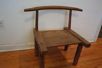 Old African Baule Chair From The Ivory Coast.