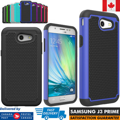For Samsung Galaxy J3 Prime Case Hybrid ShockProof Defender Protective Cover