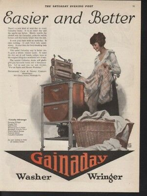1920 Gainaday Bennert Washer Home Decor Laundry Tub Ad 9549