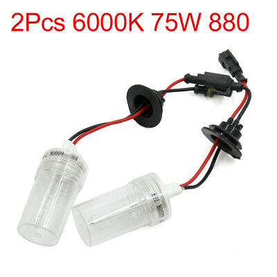 2PCS Universal 6000K 75W 880 HID Xenon Headlamp Lamp Light Bulbs for Auto Car