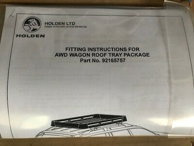 Holden Commodore Roof Luggage Tray