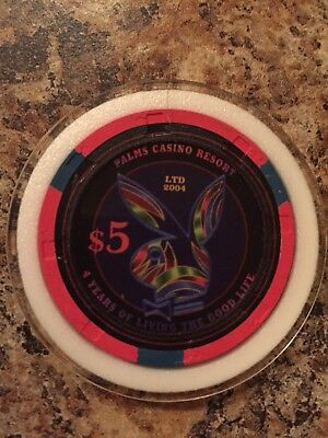 Palms $5 4th anniversary PLAYBOY casino chip in case