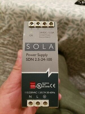 Sola SDN 2.5-24-100 24 VDC Power Supply