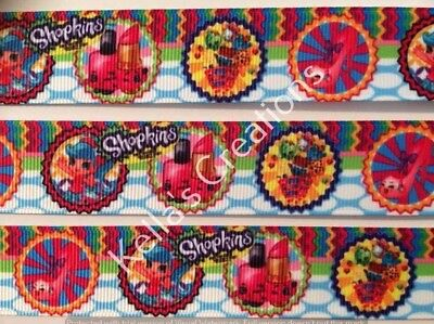 """Shopkins Characters 1"""" Ribbon sold by 2 M- craft - hair bows Hair Accessories"""