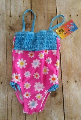 Toddler Swim Suit 24 mos NEW Baby Bathing Suit Summer Ruffle Flower