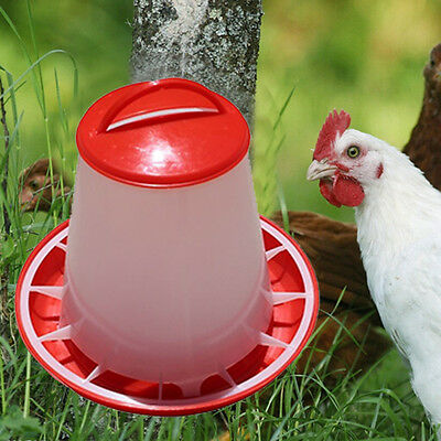 1.5kg Plastic Food Seed Automatic Feeder For Chicken Chick Hen Chook Poultry LJ
