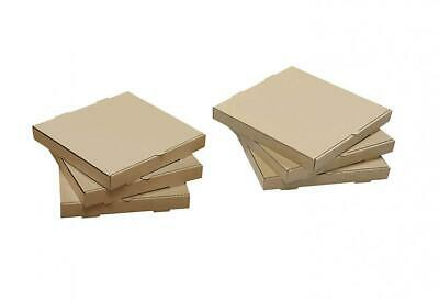 """Plain Brown Kraft Cardboard Personal Pizza Pastry Cookie Box 1 5/8"""" x 8"""" square"""