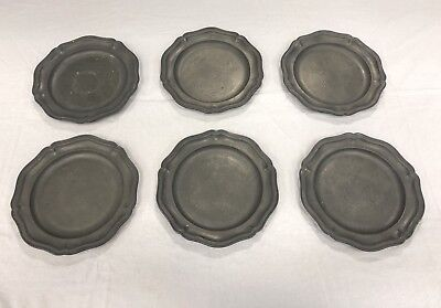 Antique Pewter Dinner Plates 18th Century Stynt Duncumb Touch Marks Crown X