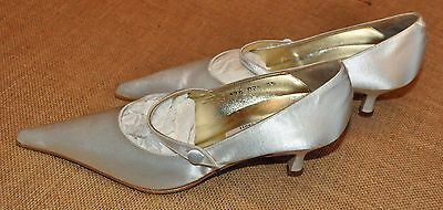"""REDUCED BRAND NEW  """"PANACHE"""" SATIN WEDDING0 SHOE made in Spain size 35"""