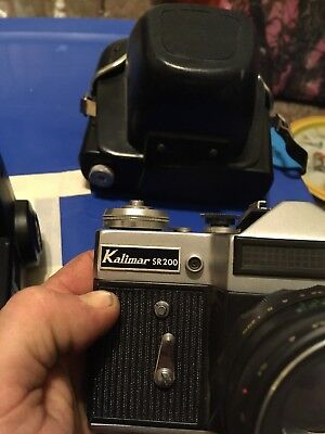 Kalimar Sr 200 With A Helios-lens  plus  fivemore lens and a vivitar283 huge lot