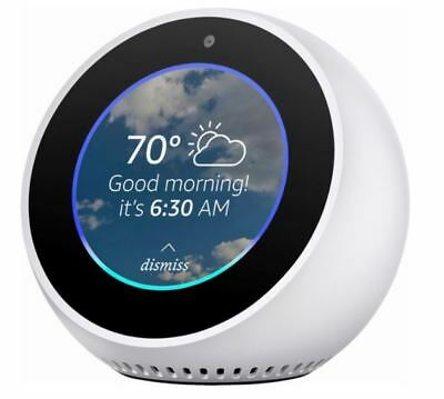 Amazon Echo Spot Alexa Enabled Assistant White Digital Media 2.5 Screen