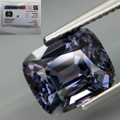 5.08Ct.FREE Certificate Natural BIG Cobalt Blue Spinel MaeSai,Thailand Full Fire