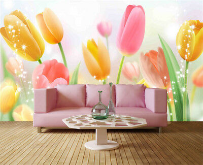 Later Sober Tulip 3D Full Wall Mural Photo Wallpaper Printing Home Kids Decor