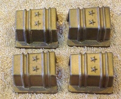 Power Models 2 1/2 inch Scale Live Steam Bronze Stake Pockes, set of 4, NOS