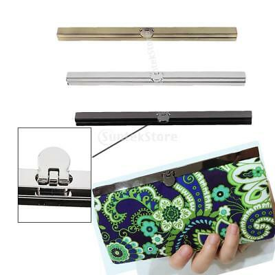 3Pcs 19cm Purse Wallet Frame Bar Edge Strip Clasp Metal Openable Edge Locks