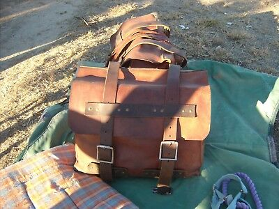 First World War Swivel Pack Saddle and Hand-made Cow Hide Pack Bags, VGC
