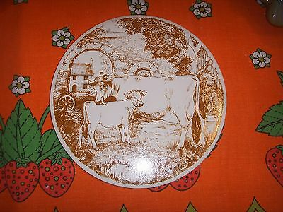 Vintage Jersey Cow and Calf Jersey Pottery Tea Pot Stand