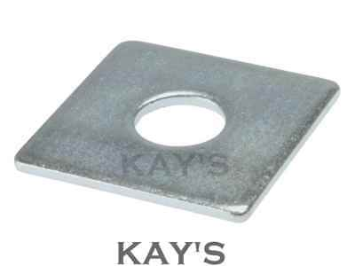 SQUARE PLATE WASHERS 50mm x 50mm HEAVY DUTY THICK ZINC PLATED M8 M10 M12 M16 M20