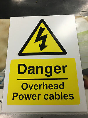 Danger Overhead Power Cables sign