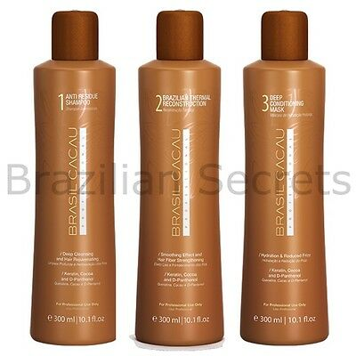 Brasil Cacau Brazilian Keratin Treatment Blow Dry Hair Straightening Kit Cadiveu