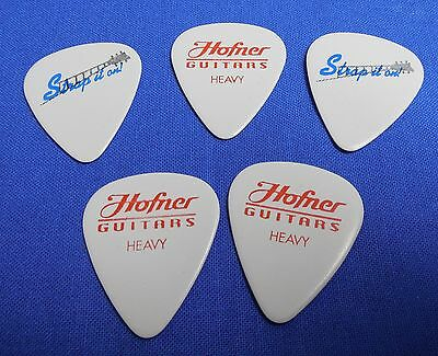 Nos Lot Of 10 Heavy Hofner 351 Strap It On Guitar Picks