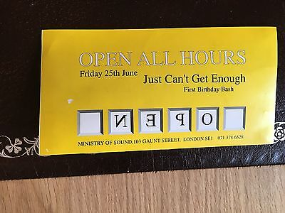 Ministry Of Sound Flyer Open All Hours 1 Year Anniv Carpe Diem Pleased Wimmin