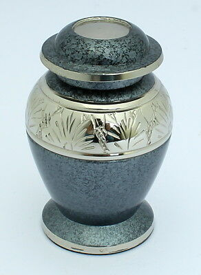 Mini Urn for ashes Cremation Funeral Memorial Small Keepsake grey ash container