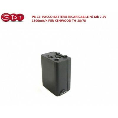 PB-13-H Paquet Batterie NI-MH 7.2V 1500mA/H Compatible Kenwood TH-28/78/47/4