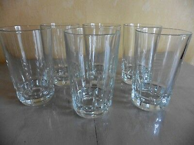 6 Verres Gobelet Whisky Ricard  Cristal D'arques