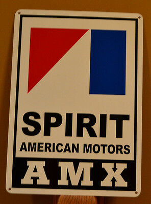 AMC AMX SPIRIT Javlin American Motors Racing Sign Service Mechanic Garage Ad