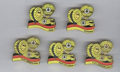 Warsteiner Pin Set 5 Pins, Sonnenblume Welcome Hotel, Ballon, alle Team Pins,
