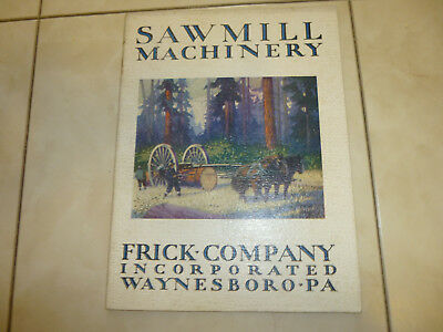 Vintage Frick Machinery Traction Engines Steam Catalog WAYNESBORO PA. 32 PAGES