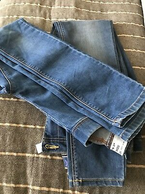 Two Pairs Of Girls Jeggings / Jeans Age 12
