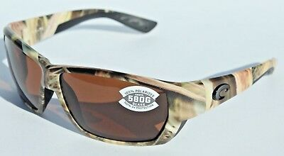 a61ae170738 COSTA DEL MAR Tuna Alley POLARIZED Sunglasses Mossy Oak Camo Copper 580G NEW