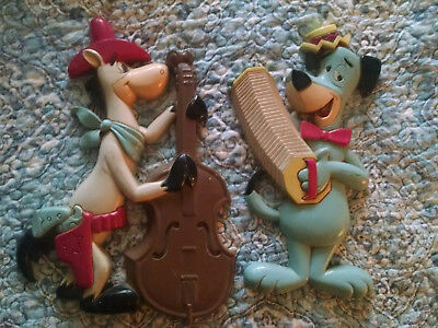 1978 Vintage Huckleberry Hound & Quick Draw McGraw Wall Art Hanna Barbera