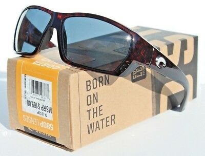 bab8b206d7 COSTA DEL MAR Tuna Alley 580 POLARIZED Sunglasses Tortoise Gray 580P ...