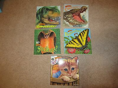 Lot of 5 Know-it-Alls Books Crocodiles Dinos Butterflies Snakes Kittens + CD VGC