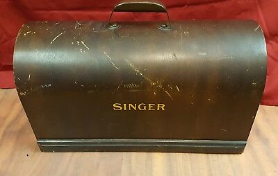 Vintage Singer Sewing Machine Bentwood Wood Case Dome Top Only w/ Handle 3/4Size