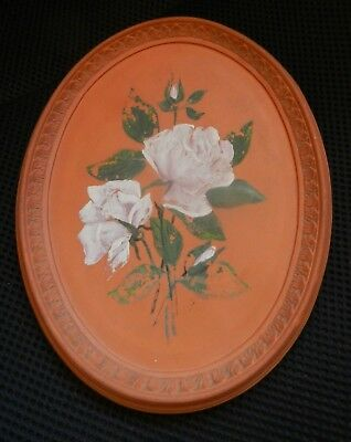 Victorian early Watcombe Torquay Oval plate with roses c1884