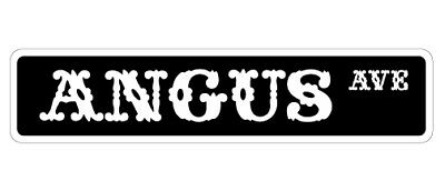"ANGUS Street Sign beef cattle farm cow bull| Indoor/Outdoor | 36"" Wide"